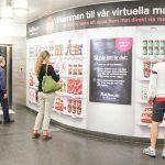 Compras Virtuales de Comestibles en el Metro de Suecia